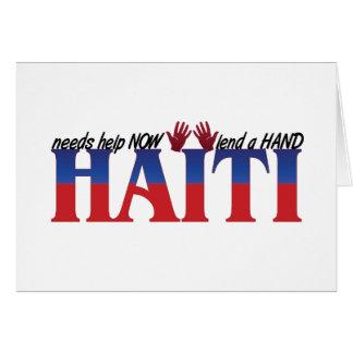 Cartão ajuda haiti