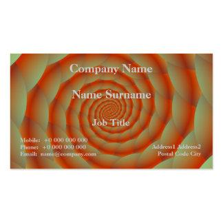 Cartão alaranjado da espiral da pele de cobra cartão de visita