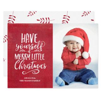 Cartão Alegre pouco Grunge do vermelho do Natal