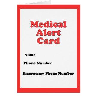 Cartão alerta médico