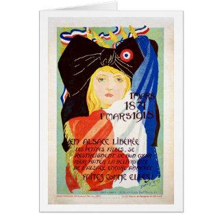 Cartão Alsácia liberada - francês