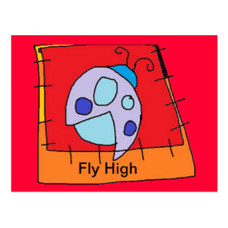 Cartão alto da mosca cartoes postais