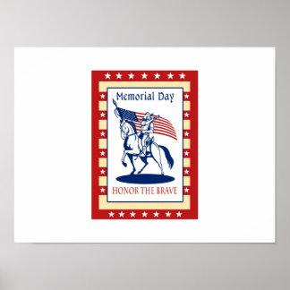 Cartão americano do poster do Memorial Day do patr