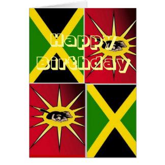 Cartão Americano-Jamaicano nativo