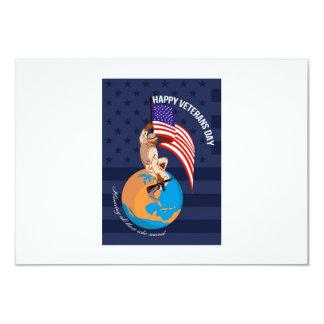 Cartão americano moderno do dia de veteranos convites personalizados