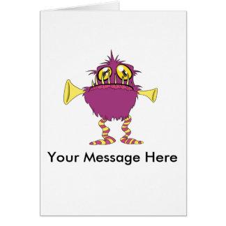 Cartão Amigos pequenos bonitos do monstro