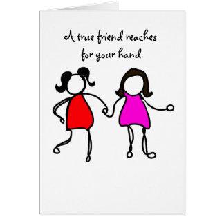 Cartão amigos verdadeiros