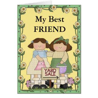 Cartão Amizade e vendas de jardim