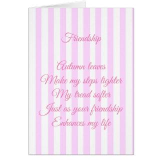 Cartão Amizade personalizada