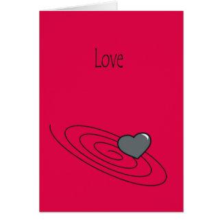 Cartão Amor - aprecie-o quando você puder