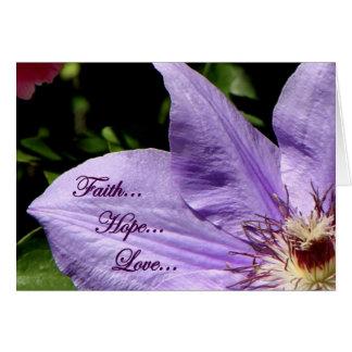 Cartão Amor da esperança da fé