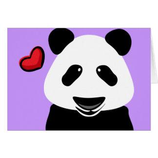 Cartão Amor da panda você Beary muito moderno