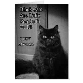 Cartão Amor dos gatos pretos