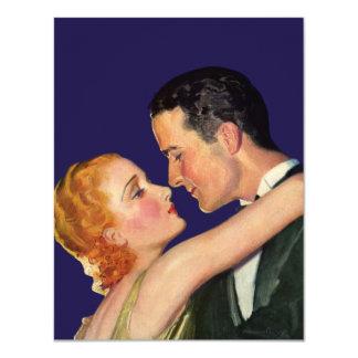 Cartão Amor e romance do vintage, filmes retros de