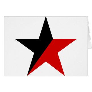 Cartão Anarquismo preto e vermelho do