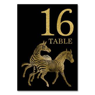 Cartão animal africano 16 do número da mesa da