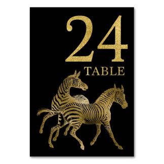 Cartão animal africano 24 do número da mesa da