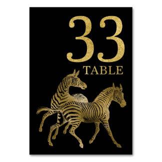 Cartão animal africano 33 do número da mesa da