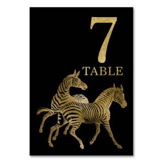 Cartão animal africano 7 do número da mesa da