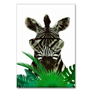 Cartão Animal do estilo da zebra do hipster