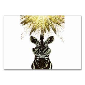 Cartão Animal do estilo da zebra do hipster