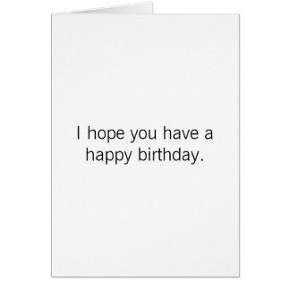 Cartão Aniversário - aprecie seu dia