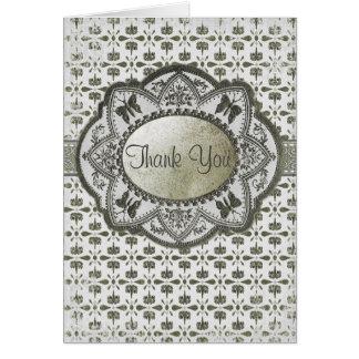 Cartão Aniversário barroco do vintage