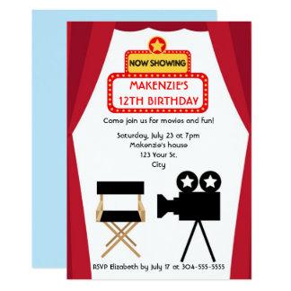 Cartão Aniversário da noite de cinema