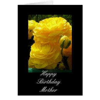 Cartão Aniversário das mães