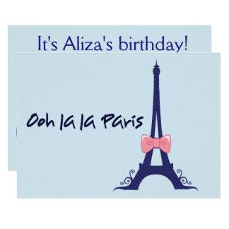 Cartão Aniversário de Paris da torre Eiffel