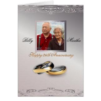 Cartão Aniversário de prata