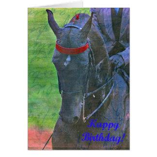Cartão Aniversário de Saddlebred