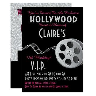 Cartão Aniversário do brilho de Hollywood
