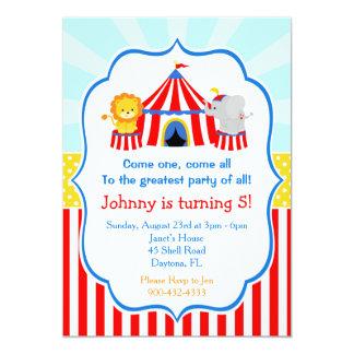 Cartão Aniversário do carnaval do circo da tenda de circo