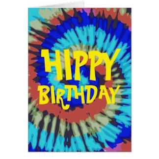 Cartão Aniversário do hippy