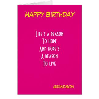 Cartão Aniversário do neto