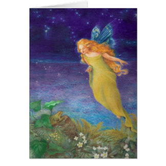 Cartão aniversário lindo da ilustração da fantasia