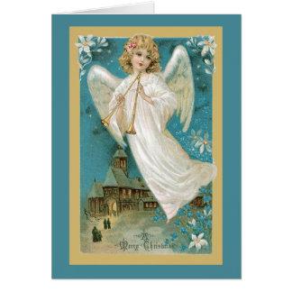 Cartão Anjo com chifres