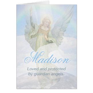 Cartão Anjo-da-guarda feito sob encomenda