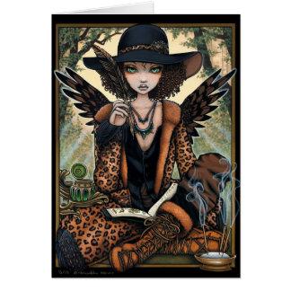 Cartão Anjo étnico Willa do Shaman crioulo boémio da