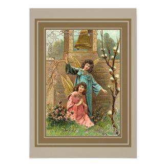 Cartão Anjos em um jardim