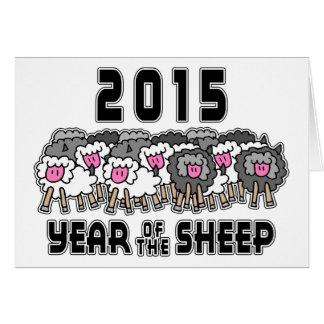 Cartão Ano da cabra 2015 da ram dos carneiros