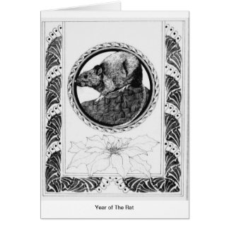 Cartão Ano do rato