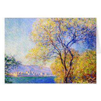 Cartão Antibes visto do Salis jardina Claude Monet