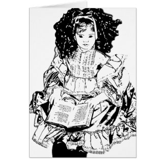 Cartão antigo da boneca