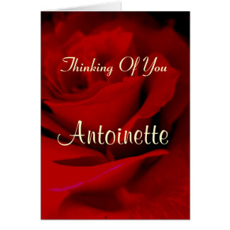 Cartão Antoinette