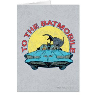 Cartão Ao Batmobile - ícone afligido