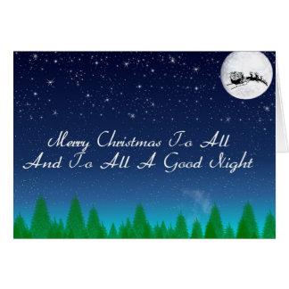 Cartão Ao todo o uma boa noite
