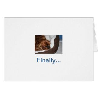 Cartão Aposentadoria parva do cão