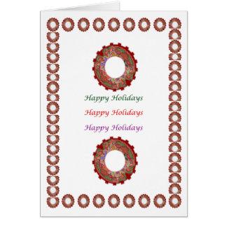 Cartão Aprecie a alegria da parte de n - HappyHolidays